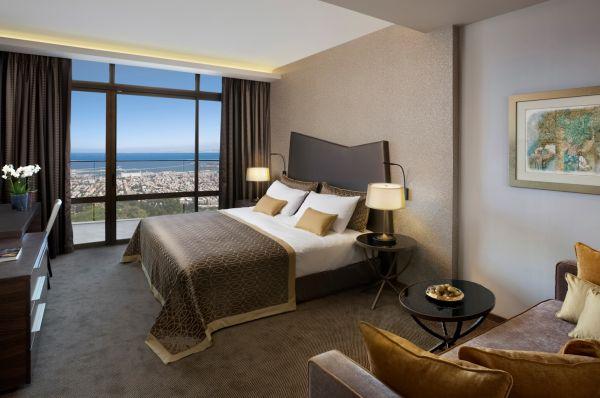 отель люкс Дан Кармель в Хайфа - Делюкс с видом на Залив