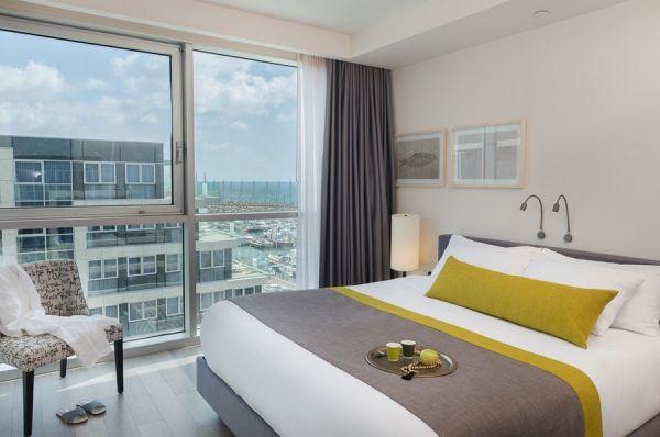 בית מלון תל-אביב והמרכז הרודס הרצליה - סוויטה רויאל  שני חדרי שינה